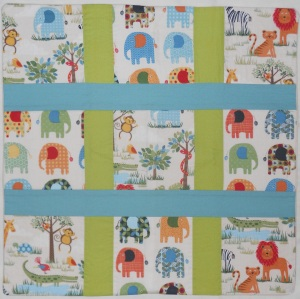 Jungle Scenic Animals fabric by Makower Cushion Cover